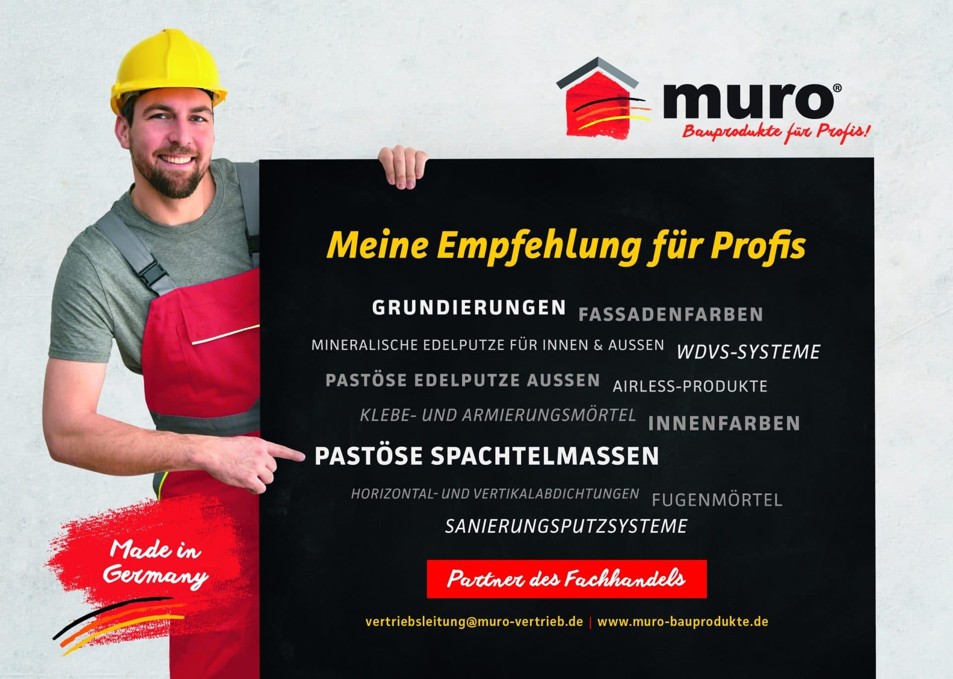 grundierungen von muro